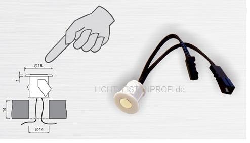 jost licht shop touch dimmer ein ausschalter f r led 12v dc max 12w. Black Bedroom Furniture Sets. Home Design Ideas